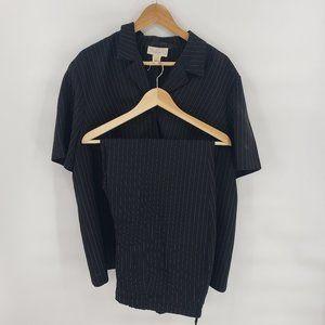 Vintage Plus Size Pin Stripe Women's Career Suit